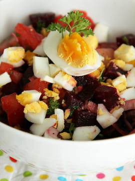 Salade de betteraves � l oeuf dur