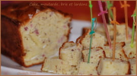 Cake moutarde, brie et lardons