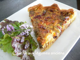 Quiche automnale aux lgumes anciens