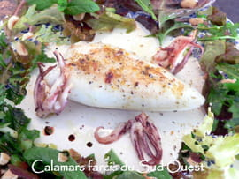 Calamars farcis du Sud Ouest