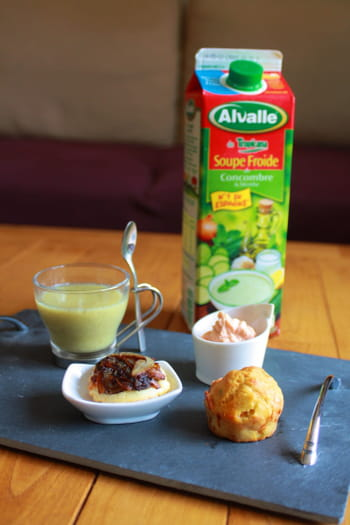 Ma Soupe Froide de Concombre & Menthe Alvalle faon &quot;caf gourmand&quot;