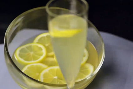 Soupe de champagne au cointreau