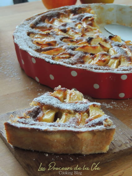 recette de tarte aux pommes normande gourmande la. Black Bedroom Furniture Sets. Home Design Ideas