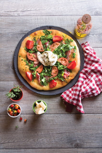 Recette de pizza bianca p te croustillante au romarin la - Veritable pate a pizza ...