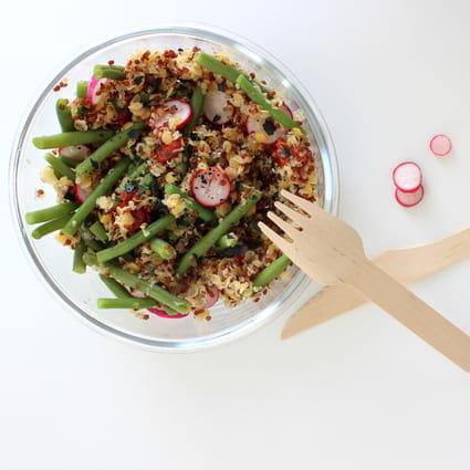 recette de salade quinoa et lentilles de corail la recette facile. Black Bedroom Furniture Sets. Home Design Ideas