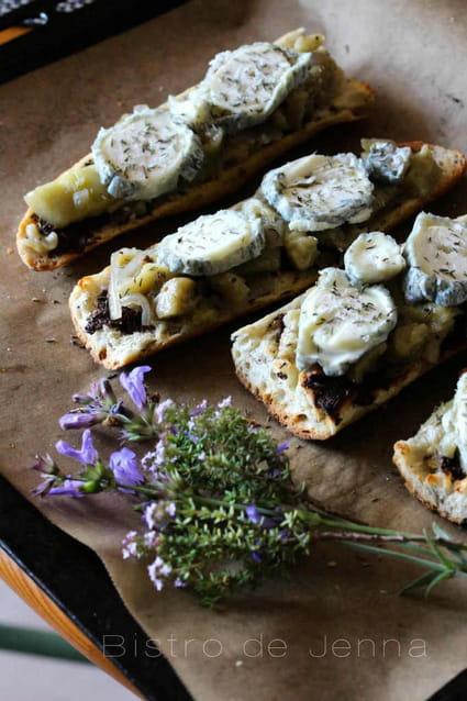 recette de tartines gratin es la proven ale thym aubergines et tapenade noire la recette. Black Bedroom Furniture Sets. Home Design Ideas