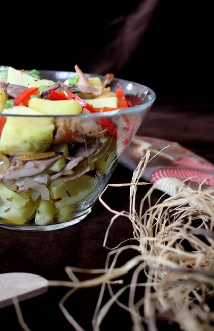Recette de salade d 39 effiloch s de canard aux pommes de terre nouvelles la recette facile - Cuisiner des pommes de terre nouvelles ...