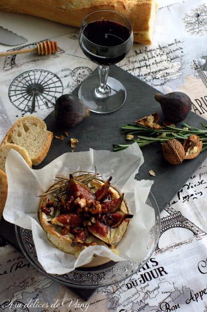 Recette de camembert au four et figues r ties au miel et aux noix la recette facile - Figues roties au miel ...