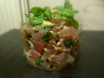 Recette de tartare de thon rouge au s same la recette facile - Cuisiner le thon rouge ...
