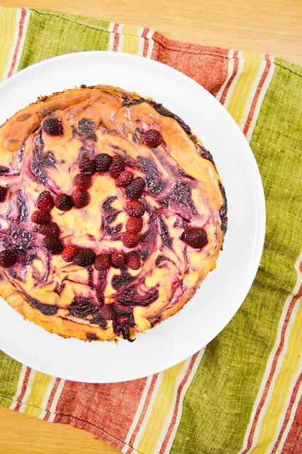 Recette de cheesecake chocolat blanc et framboises la recette facile - Very parfait chocolat blanc ...