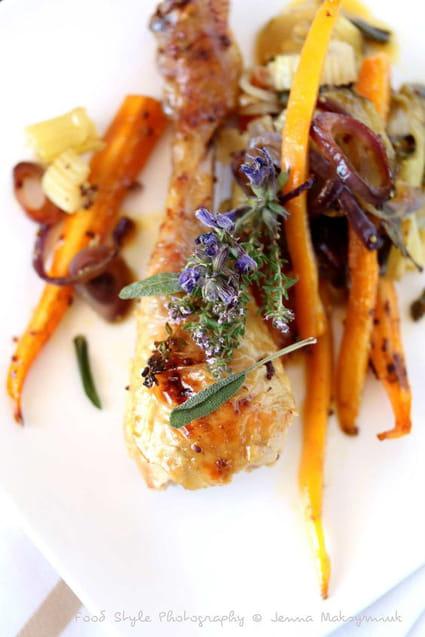Recette de cuisses de poulet fermier au four la recette - Cuisiner cuisse de poulet ...