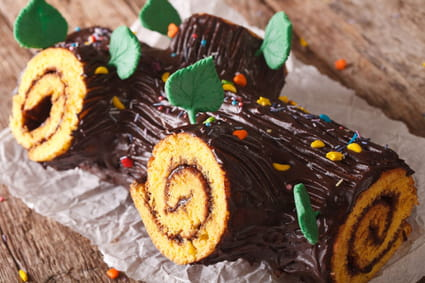 Bûche roulée à la mousse au chocolat
