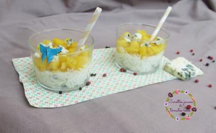 Riz au lait roquefort et mangue