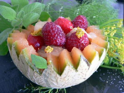 Recette de salade de fruits d 39 t au sirop de menthe fraiche la recette facile - Recette fraiche pour l ete ...