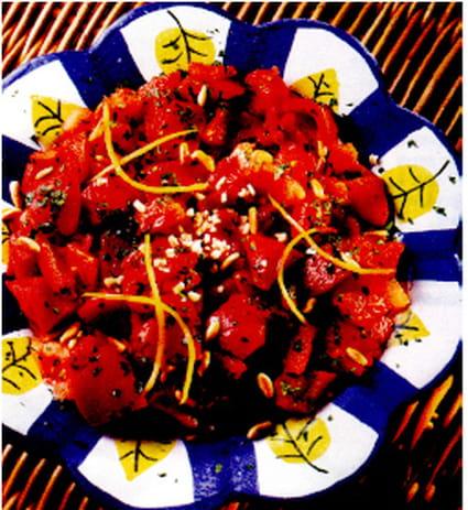 Salade de poivrons à l'orientale