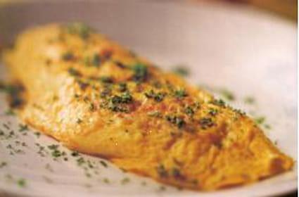 Omelette au cantal et au bacon