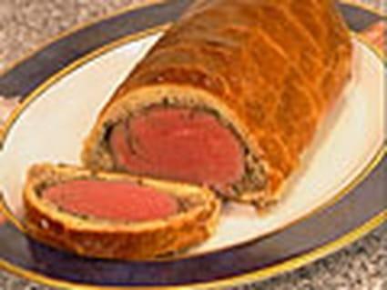 Filet de boeuf en croûte, sauce foie gras