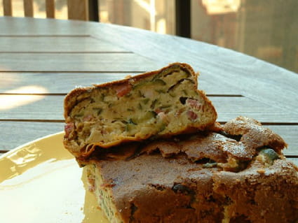 Cake de courgette et chèvre