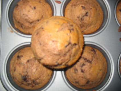Muffins au chocolat-banane