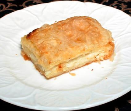 Tourte feuilletée au fromage