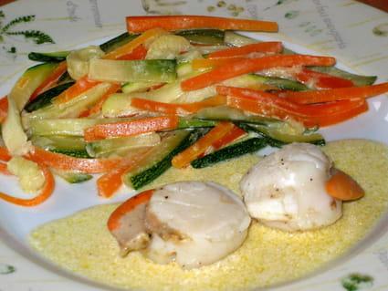 Noix de Saint-Jacques aux petits légumes