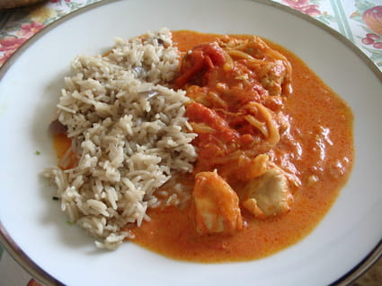 Poulet au curry et gingembre