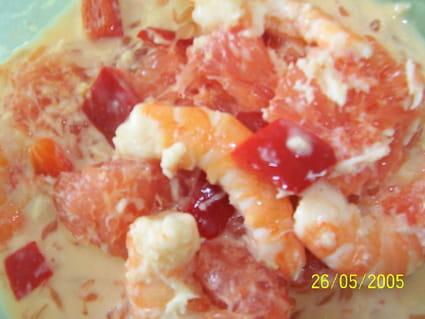Salade de pamplemousse et crevettes