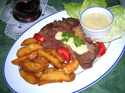 Entrecôte sauce roquefort
