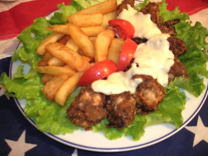 Ailerons de poulet frits maison