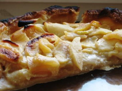 Tarte pommes-amandes