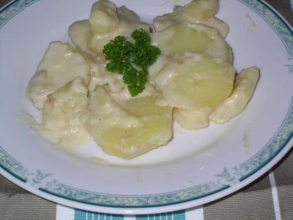 Pommes de terre à la crème et  au fromage