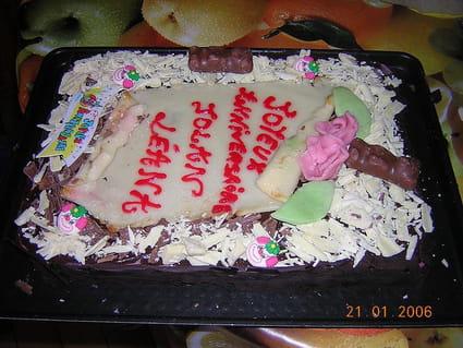 Super gâteau d'anniversaire