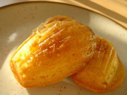 Madeleines à la vanille, poudre d'amandes et miel
