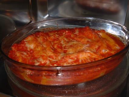 Cannellonis à la ricotta et au boeuf
