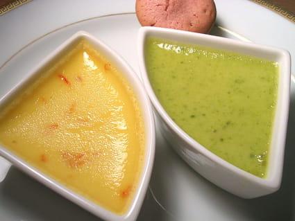 Duo de crèmes amande et pistache