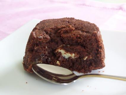 Fondant au chocolat coeur blanc