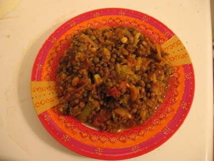 Lentilles à l'indienne