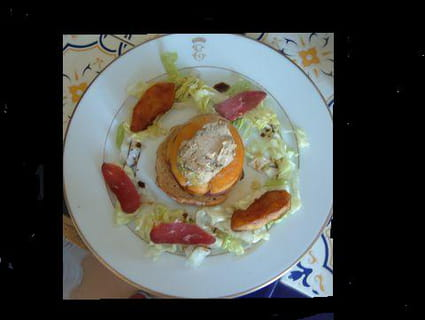 Tatin de magrets de canard et de foie gras