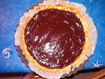 Tarte chocolat  et caramel au beurre salé