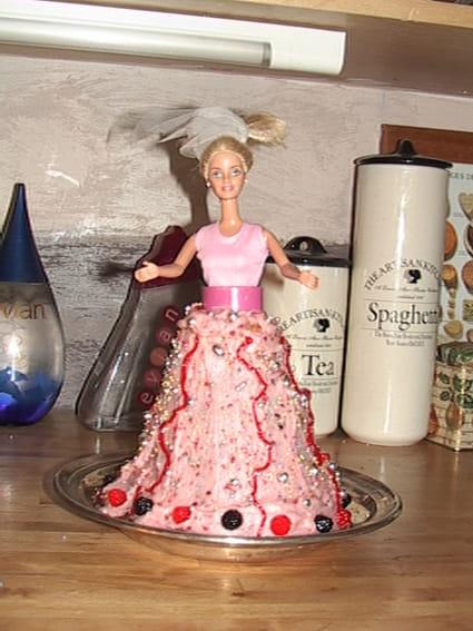 Gâteau Barbie anniversaire