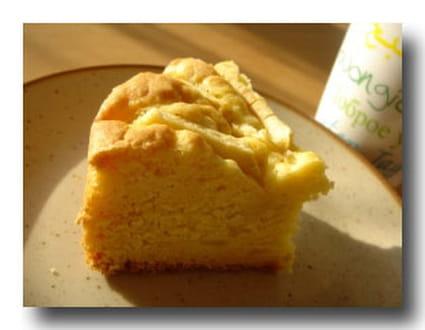 Cake aux amandes et aux pommes