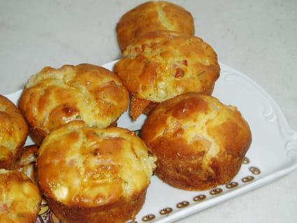 Muffins aux lardons et au chèvre