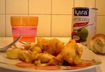 Curry de poulet au lait de coco et pommes de terre