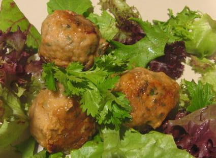 Boulettes de poulet à la coriandre et menthe