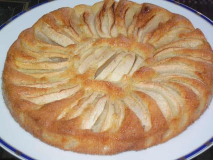 Gâteau fondant aux pommes à l'ancienne