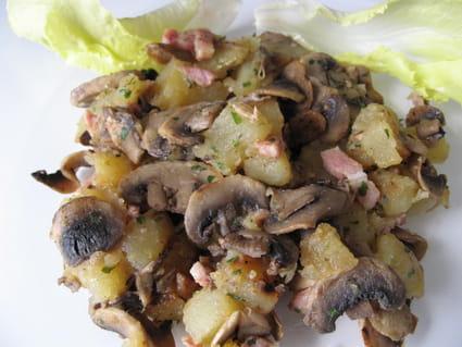 Poêlée pommes de terre aux champignons