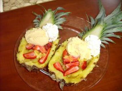 Ananas à la fraise