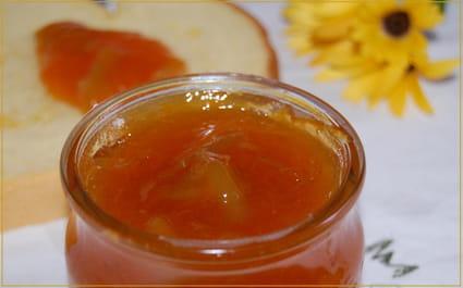 Confiture d'abricots et de rhubarbe