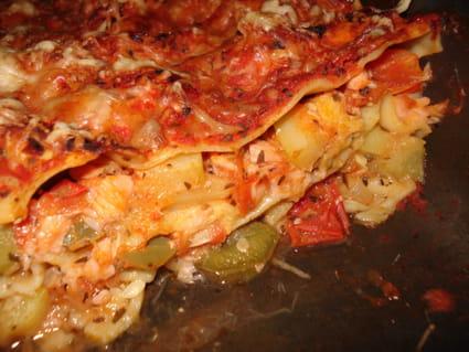 Lasagne saumon-ratatouille