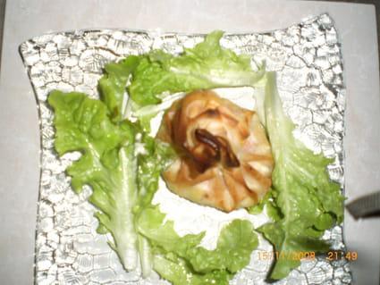 Aumonières de Saint-Jacques et crevettes
